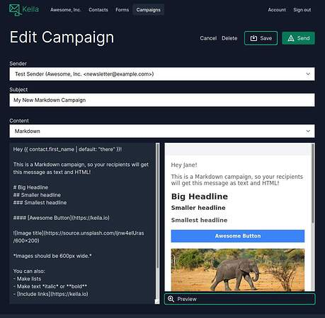 Screenshot_2021-02-19 Open Source Newsletter Tool · Keila