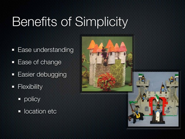 Benefits of Simplicity
