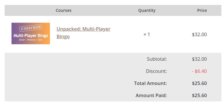 Unpacked: Multi-Player Bingo (Pragmatic Studio) - Courses