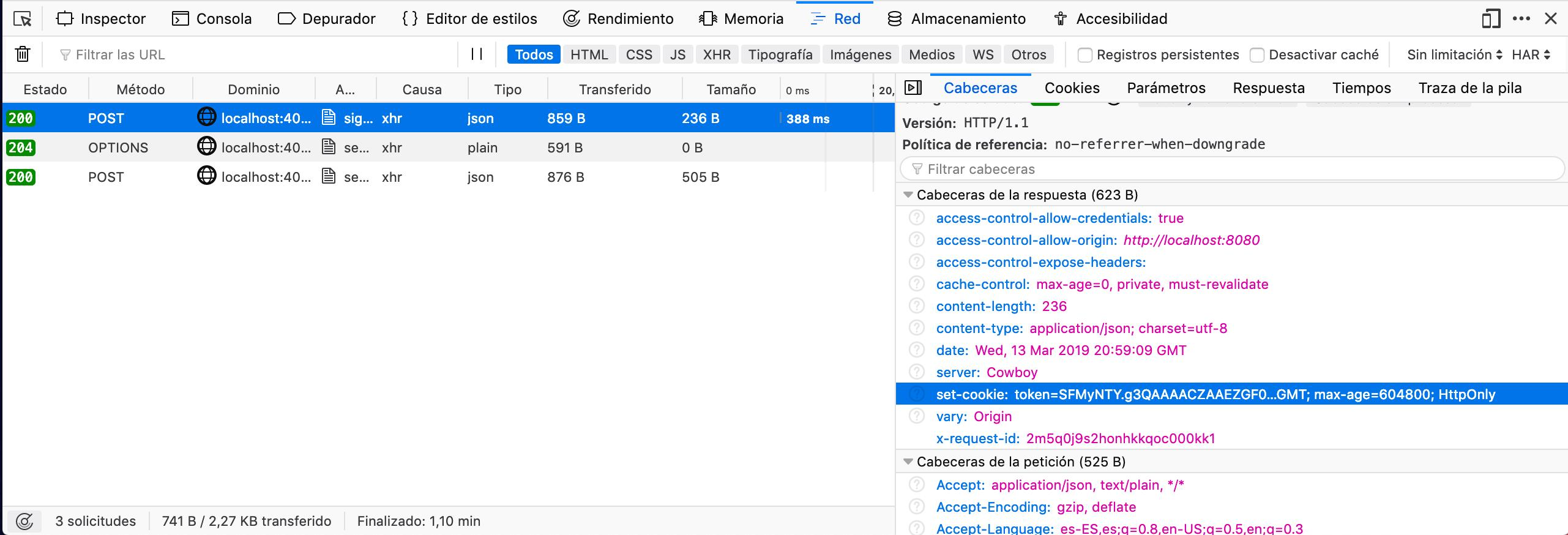 Set-cookie header works on Google Chrome and FF but no
