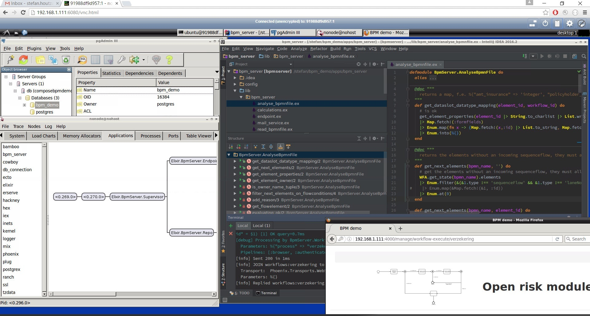 Develop anywhere in a browser with the intellij IDE, github