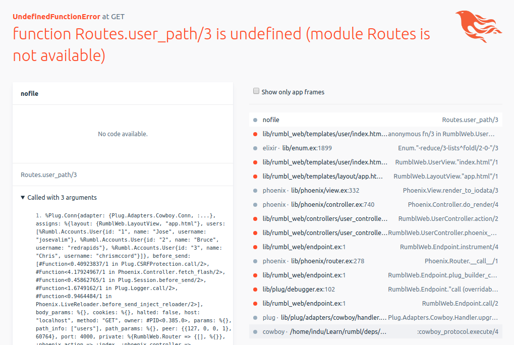 Programming Phoenix error: function Routes user_path/3 is