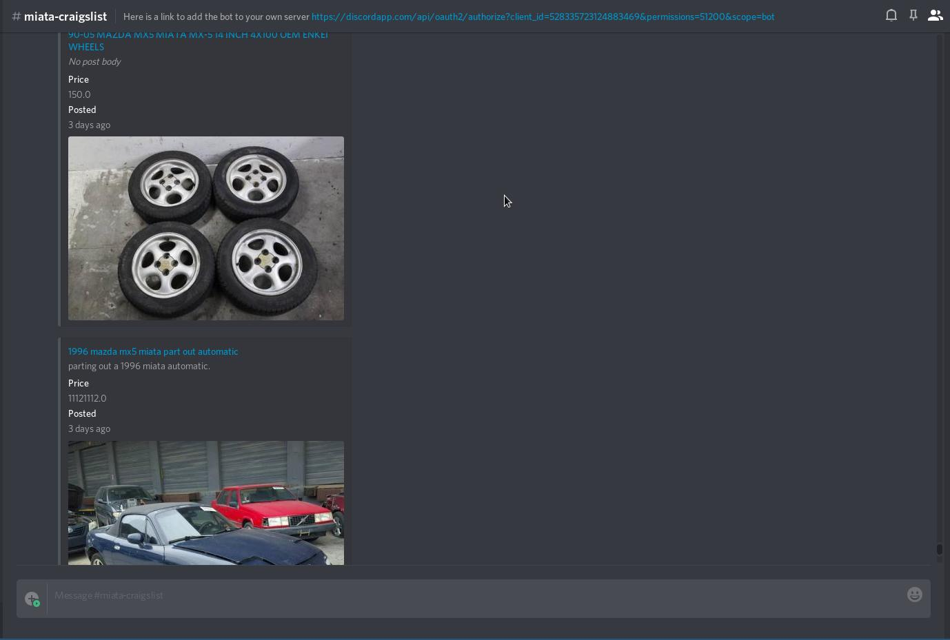 Disclist - A Discord bot to scrape Craigslist - Projects - Elixir Forum